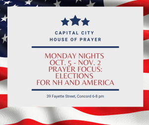Capital City House of Prayer -- Fall 2020 @ United Baptist Church